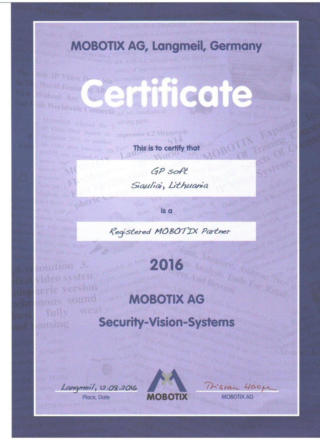 Mobotix vaizdo stebėjimo įranga kameros gpsoft mobotix atstovai Lietuvoje