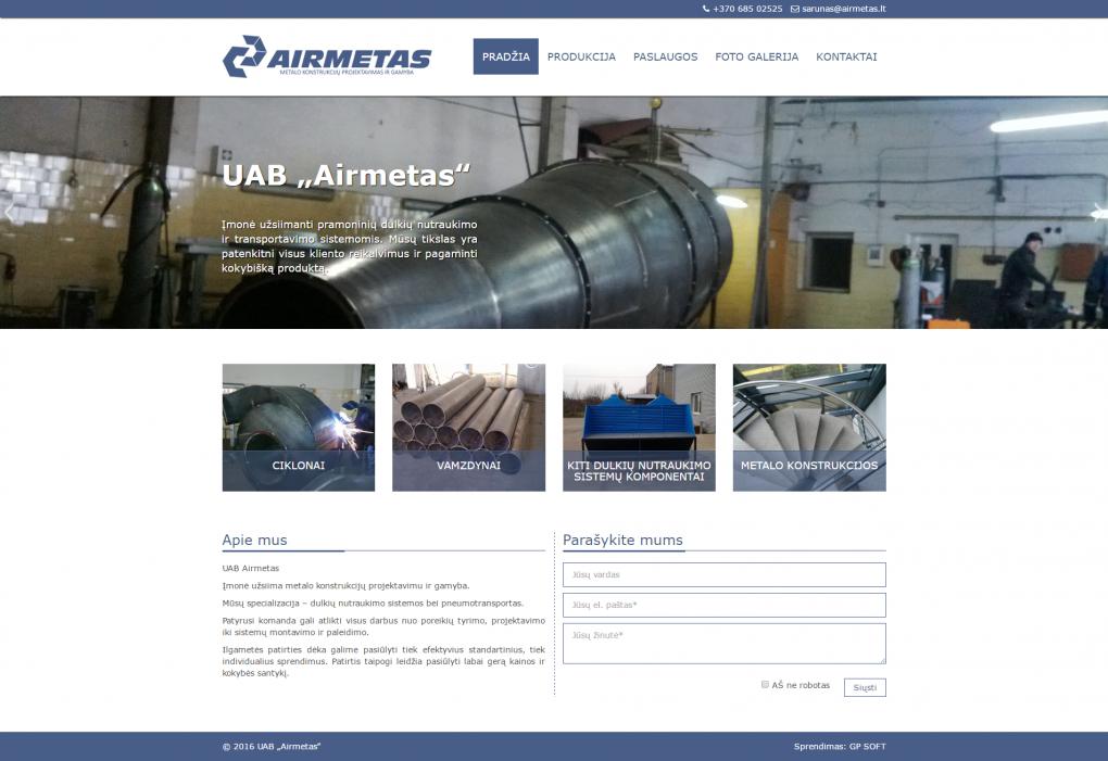 Airmetas.lt webcreatorslt desigin puslapiu kurimas gpsoft